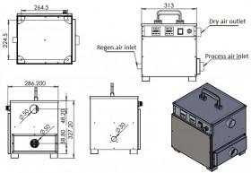 60m3/h dehumidifier